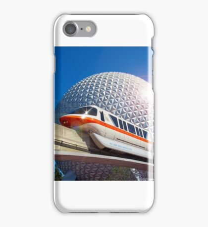 Iconic Monorail at EPCOT iPhone Case/Skin