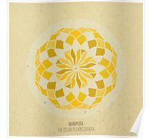 Manipura - The Solar Plexus Chakra Mandala Poster