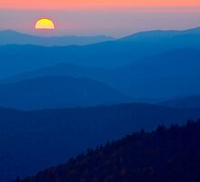 Sunset over the Great Smoky Mountains by Mary Ann  Melton
