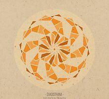Svadisthana - The Sacral Chakra Mandala by goldsoul