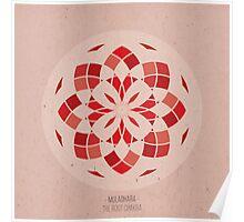 Muladhara - The Root Chakra Mandala Poster