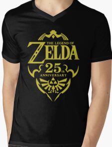 The Legend of Zelda, 25th Anniversary Mens V-Neck T-Shirt