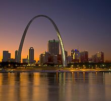 Twilight Falls over St. Louis by Mary Ann  Melton