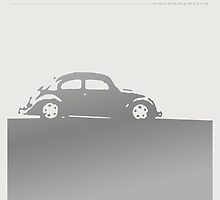 Volkswagen Beetle - Silver on light by uncannydrive