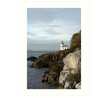 Lime Kiln Lighthouse Art Print