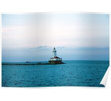 The Michigan Pier lighthouse Poster