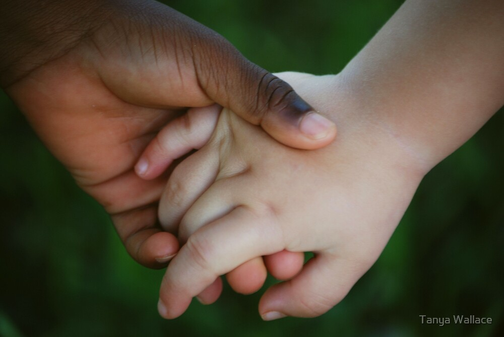 Brother & Sister, hand in hand by Tanya Wallace