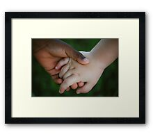 Brother & Sister, hand in hand Framed Print