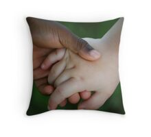 Brother & Sister, hand in hand Throw Pillow