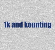 1k and kounting! (blue logo) by jdbruegger