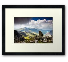 A view from Tryfan Framed Print