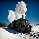 Train Engine in Snow by KellyHeaton
