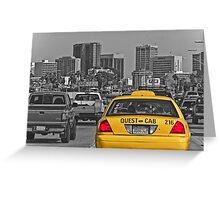 Welcome to San Diego-Yellow Cab Greeting Card