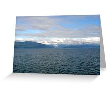 View from a whale watching excursion Greeting Card