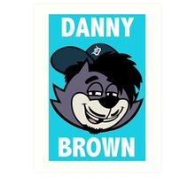 "Danny Brown ""Pitchfork Frame's Cat""  Art Print"