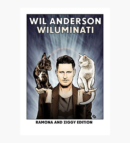 Wil Anderson WILUMINATI (Ramona and Ziggy) Photographic Print