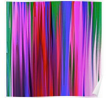 Colorful Rain Abstract Poster