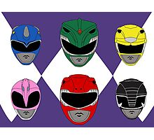 Mighty Morphin' Power Rangers Photographic Print