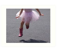 Yee-Haw Ballerina..... Art Print