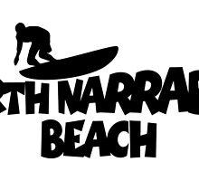 North Narrabeen Beach Surfing by theshirtshops