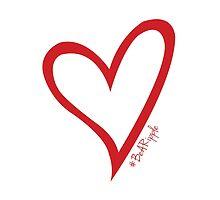 #BeARipple Original Heart Red by BeARipple