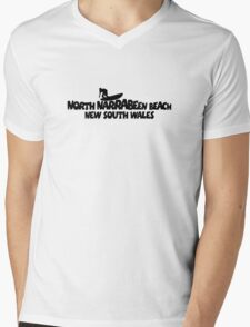 North Narrabeen Beach Surfing Mens V-Neck T-Shirt