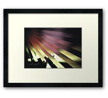 UV RAYS Framed Print