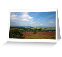 Suie Hill looking over Aberdeenshire Greeting Card