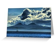 Storm brewing over Jura Greeting Card