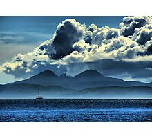 Storm brewing over Jura Photographic Print