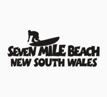 Seven Mile Beach Surfing One Piece - Short Sleeve