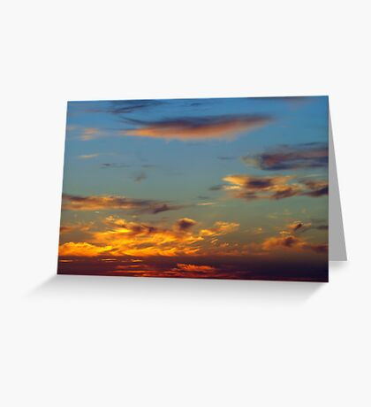 Sky Over Puget Sound Greeting Card