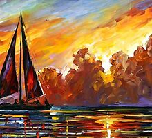Crimson Clouds — Buy Now Link - www.etsy.com/listing/218425709 by Leonid  Afremov
