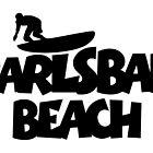Carlsbad Beach Surfing by theshirtshops