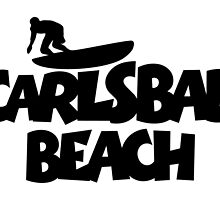 Carlsbad Beach Surfing by theshirtshops