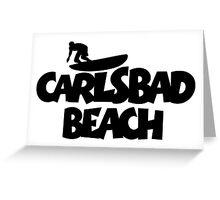 Carlsbad Beach Surfing Greeting Card