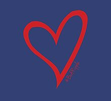 #BeARipple Original Heart Red & Navy by BeARipple