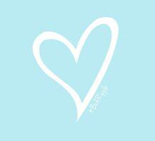 #BeARipple Original Heart White & Blue by BeARipple