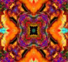 Psychedelic Cross Pocket Sticker