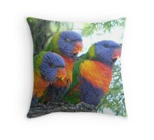 Lorikeets Throw Pillow