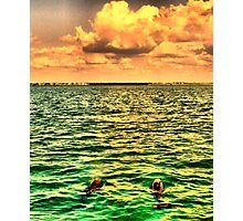 Dolphins In An Emerald Sea Photographic Print