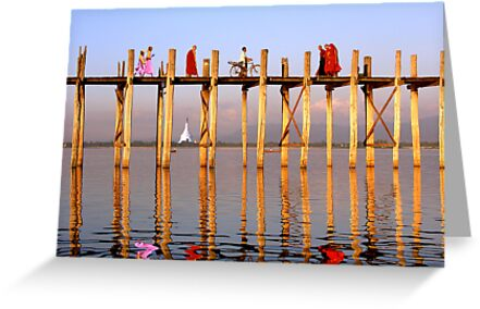 FOOT TRAFFIC - U BEIN'S BRIDGE by Michael Sheridan