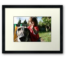 Leo and Hootie Framed Print