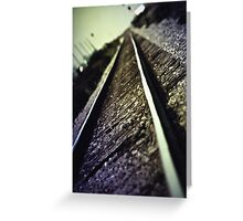 Across the Tracks Greeting Card