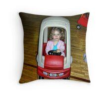 No frills driver Throw Pillow
