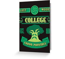 Legend of Zelda - Lost Woods College  Greeting Card