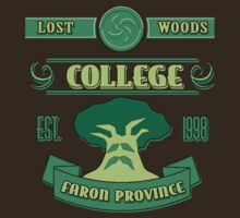 Legend of Zelda - Lost Woods College  by B-Shirts