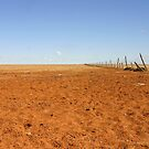 Broken Fence ~ Shattered Dreams (Diamantina Lakes National Park) by Robert Elliott
