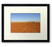 Broken Fence ~ Shattered Dreams (Diamantina Lakes National Park) Framed Print