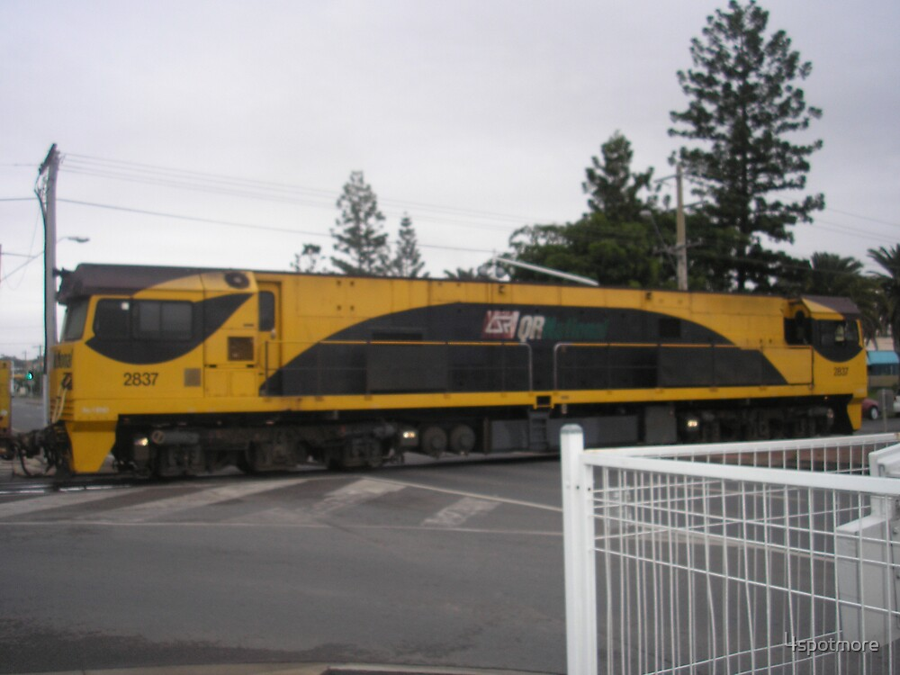 Train in Middle of Rockhampton Street by 4spotmore